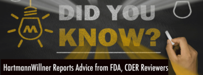 HW reports advice from FDA, CDER reviewers